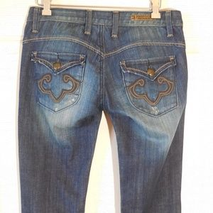 Express Jeans - ReRock for Express Bootcut Jeans Dark Blue